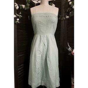 {J.Crew} Strapless Mint Dress